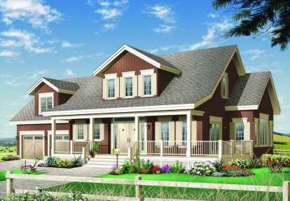 3 Bed, 2 Bath, 2305 Square Foot House Plan - #034-00427