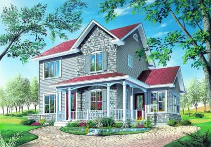 3 Bed, 2 Bath, 1516 Square Foot House Plan - #034-00433