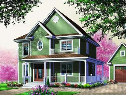 3 Bed, 1 Bath, 1678 Square Foot House Plan - #034-00444