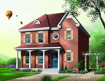 3 Bed, 2 Bath, 1692 Square Foot House Plan - #034-00445