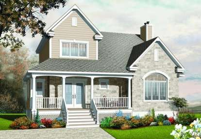 3 Bed, 1 Bath, 2154 Square Foot House Plan - #034-00448