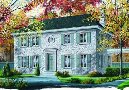 3 Bed, 2 Bath, 2663 Square Foot House Plan - #034-00453