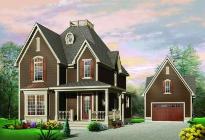3 Bed, 1 Bath, 1603 Square Foot House Plan - #034-00455