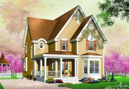 3 Bed, 1 Bath, 1744 Square Foot House Plan - #034-00457