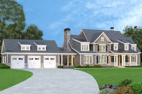 Southern House Plan #009-00087 Elevation Photo