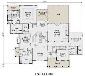 Main Floor for House Plan #009-00087