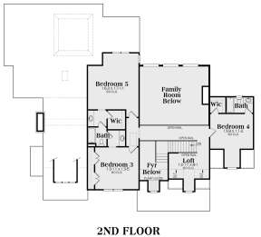 Second Floor for House Plan #009-00087