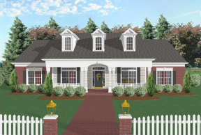 Classical House Plan #036-00070 Elevation Photo