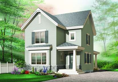 3 Bed, 1 Bath, 1712 Square Foot House Plan - #034-00467