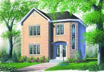 2 Bed, 1 Bath, 1369 Square Foot House Plan - #034-00469