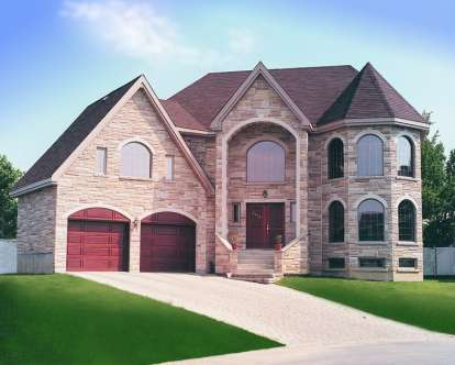 4 Bed, 2 Bath, 3078 Square Foot House Plan - #034-00501