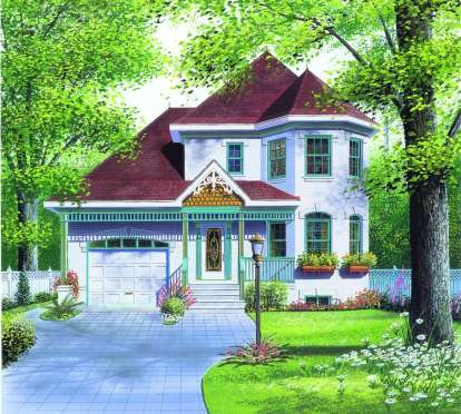 3 Bed, 1 Bath, 1508 Square Foot House Plan #034-00505