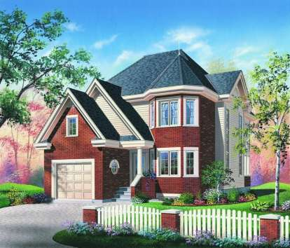 3 Bed, 2 Bath, 1751 Square Foot House Plan #034-00518