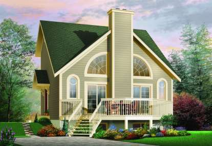 1 Bed, 1 Bath, 1148 Square Foot House Plan - #034-00529