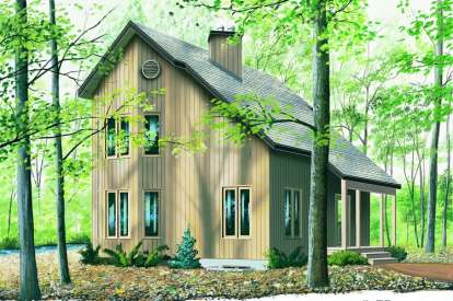 2 Bed, 1 Bath, 1290 Square Foot House Plan - #034-00536