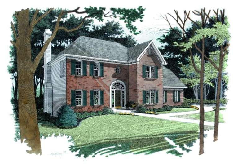 Traditional House Plan #036-00074 Elevation Photo