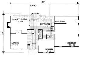 First Floor for House Plan #036-00074