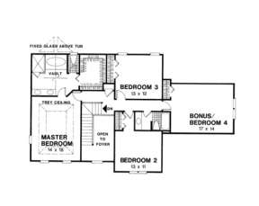 Second Floor for House Plan #036-00074