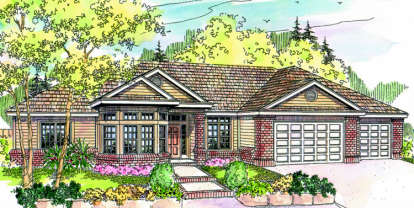 3 Bed, 2 Bath, 2653 Square Foot House Plan - #035-00319