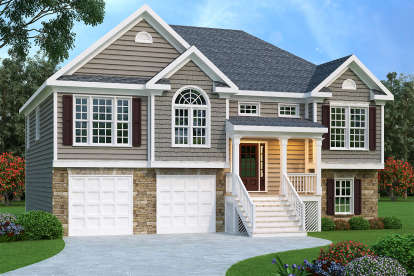 3 Bed, 2 Bath, 1781 Square Foot House Plan #009-00088