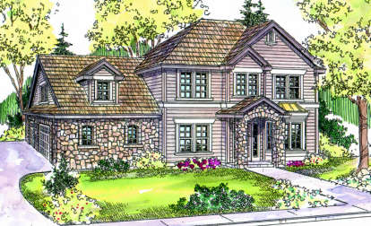 4 Bed, 3 Bath, 2887 Square Foot House Plan - #035-00320