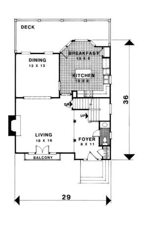 First Floor for House Plan #036-00076