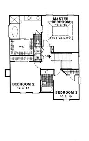 Second Floor for House Plan #036-00076