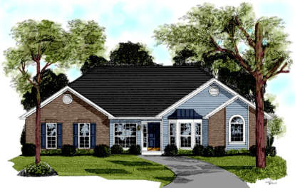 3 Bed, 2 Bath, 2022 Square Foot House Plan - #036-00079