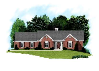 3 Bed, 2 Bath, 2098 Square Foot House Plan - #036-00081