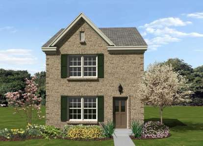 2 Bed, 1 Bath, 1107 Square Foot House Plan - #053-02274