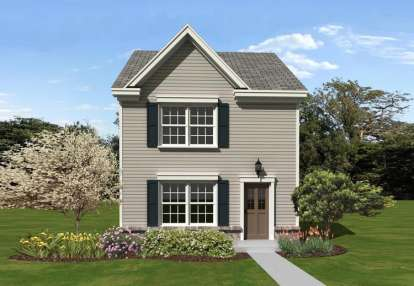 2 Bed, 1 Bath, 1107 Square Foot House Plan - #053-02276