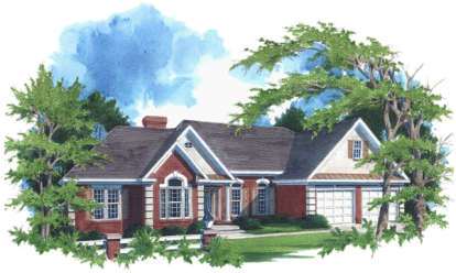 3 Bed, 2 Bath, 2088 Square Foot House Plan - #036-00083