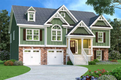 3 Bed, 2 Bath, 1781 Square Foot House Plan - #009-00089
