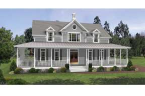 Country House Plan #036-00085 Elevation Photo
