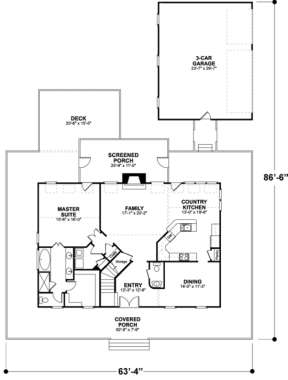 First Floor for House Plan #036-00085