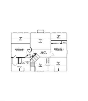 Second Floor for House Plan #036-00085