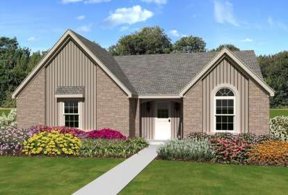 3 Bed, 2 Bath, 1435 Square Foot House Plan - #053-02317