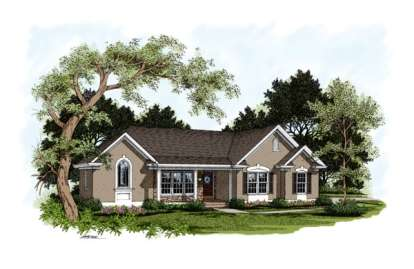 4 Bed, 2 Bath, 2111 Square Foot House Plan - #036-00089