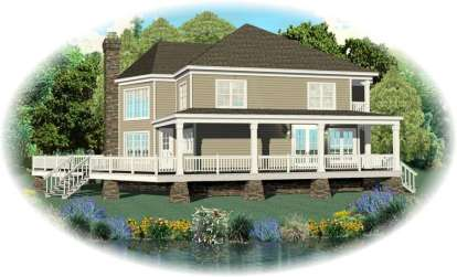 3 Bed, 2 Bath, 3193 Square Foot House Plan - #053-02362