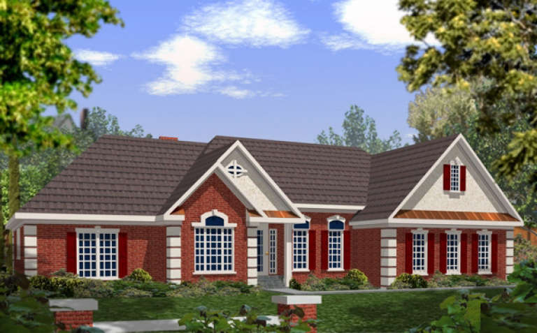 Traditional House Plan #036-00091 Elevation Photo