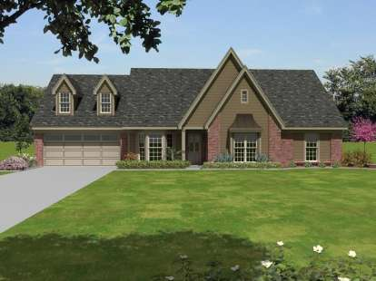 4 Bed, 3 Bath, 2764 Square Foot House Plan - #053-02370