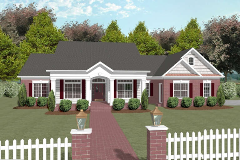 Country House Plan #036-00093 Elevation Photo