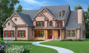 Traditional House Plan #009-00090 Elevation Photo