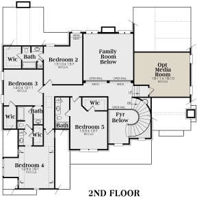 Second Floor for House Plan #009-00090