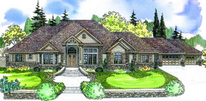 4 Bed, 4 Bath, 4901 Square Foot House Plan - #035-00322