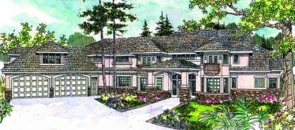 4 Bed, 3 Bath, 5389 Square Foot House Plan - #035-00325