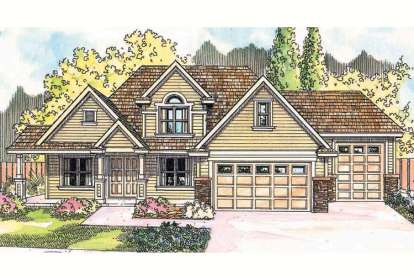 3 Bed, 2 Bath, 2765 Square Foot House Plan - #035-00326