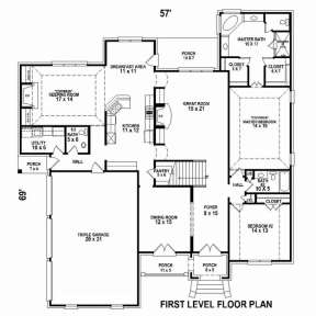 Floorplan 1 for House Plan #053-02506