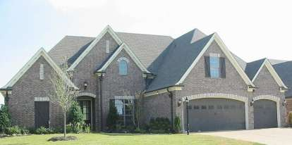 4 Bed, 3 Bath, 3581 Square Foot House Plan - #053-02543