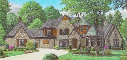 4 Bed, 4 Bath, 5573 Square Foot House Plan - #053-02570